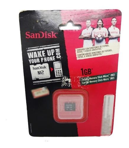 Cartao De Memoria M2 1gb Sandisk Stick Micro Sdmsm2 Nota Fis