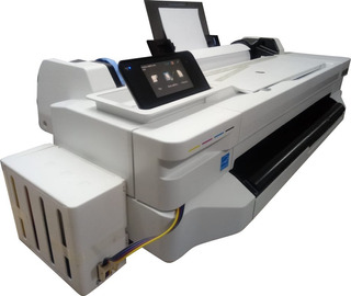 Impressora Ploter Hp T120 A1 E Rolo 61cm + Bulk Ink
