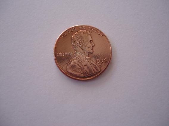 Moeda Bronze 1 Um One Cent Dolar 1996 Letra D Usa America