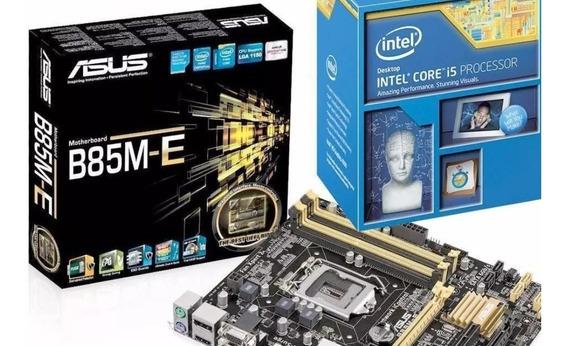 Kit Processador I5 4570 + Placa Mãe B85m-e/br + Memoria 8gb