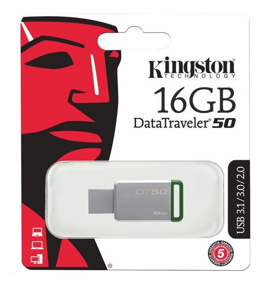 Pendrive Kingston 16 Gb Dt50 Usb 3.0 Original A1click