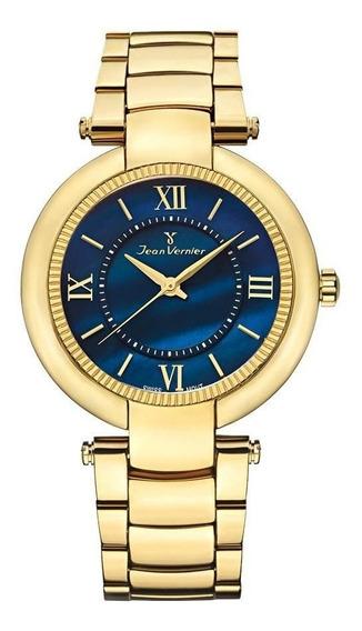 Relógio Jean Vernier Feminino Ref: Jv1142 Fashion Dourado