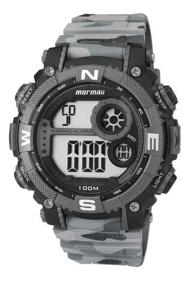 Relógio Mormaii Mo12579a/8c Cinza Camuflado Masculino