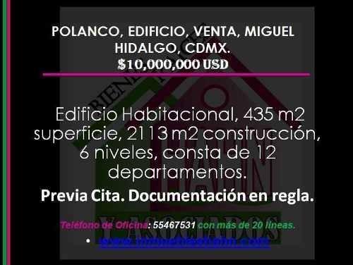 Polanco, Edificio, Venta, Miguel Hidalgo, Cdmx.
