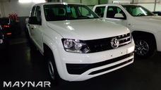 Volkswagen Vw Amarok Trendline 4x2 0km Blanca 2018