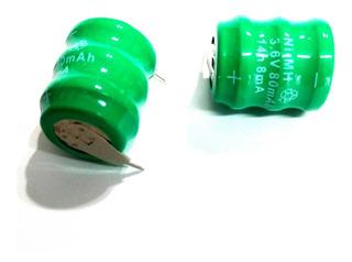 Pilas Recargables Bh80 3,6v 80mah Nimh Industriales