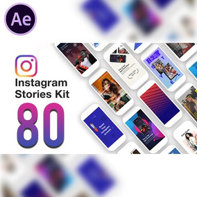 80 Instagram Stories Templates After Effects Animados
