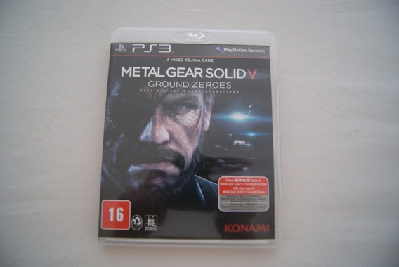Jogo Ps3 - Metal Gear Solid V Ground Zeros