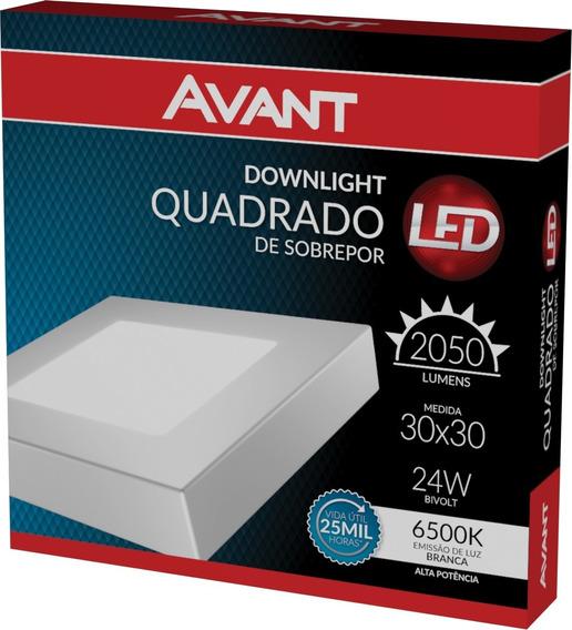 Luminária Led 24w Sob 30x30 Biv Branco Frio 6500k 5 Pcs
