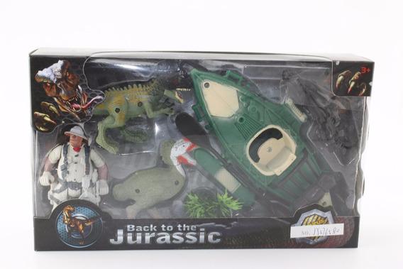 Dinosaurios 3 Figuras Playset 1 Con Accesorios En Caja