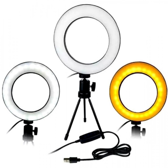Kit Iluminador Led Circular Ring Light - 3500k A 5500k
