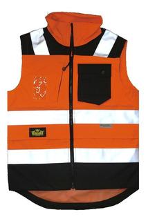 Chaleco De Ala Visibilidad Naranja Berserker Bk-820