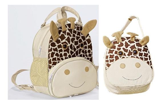 Kit Mochila Infantil Girafinha P + G - Menina - Bebê Escolar