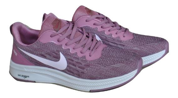 Kp3 Zapatos Damas Nike Air Zoom Morado Claro Rosa Viejo