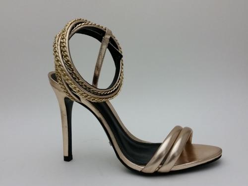 Sandália Schutz Dourada Nova E Original