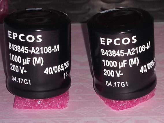 2 Capacitor Epcos 1000uf 200v