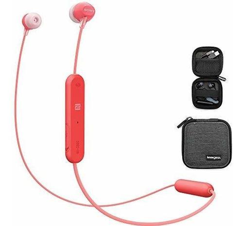 Auriculares Inalámbricos Internos Sony Wi C300, Rojo (wic300