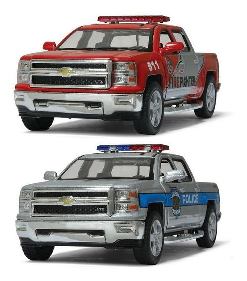 Chevrolet Silverado Policía/bombero Kinsmart Ploppy 362826