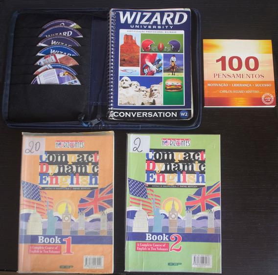 Kit Livro E Pasta Wizard W2 + 2 Livros De Ingles