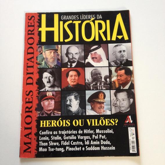 Revista Grandes Líderes Da História Heróis Ou Vilões Bc675