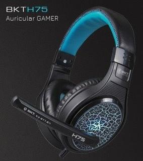 Auricular Gamer Pc Con Microfono Bkt H75 Con Luz Cuotas!!!