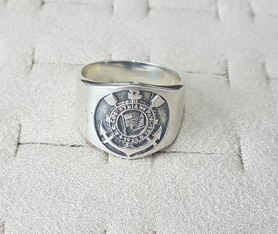 Anel Masculino Corinthians Prata 925