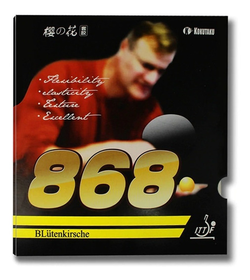 2 Borracha De Tênis De Mesa Kokutaku 868 Frete E Cola Gratis