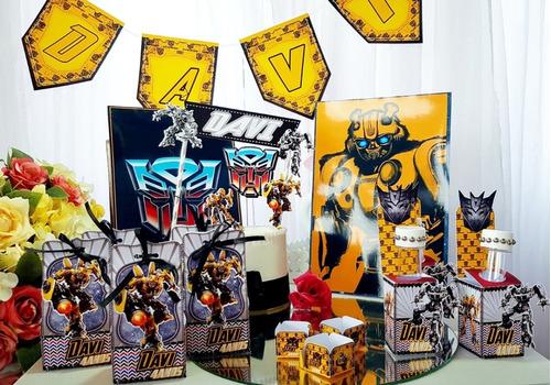 Imagem 1 de 6 de Kit Festa Em Casa Transformers 35 Itens