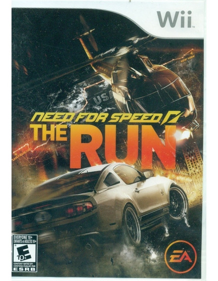 Need For Speed The Run Wii Mídia Física Novo Lacrado