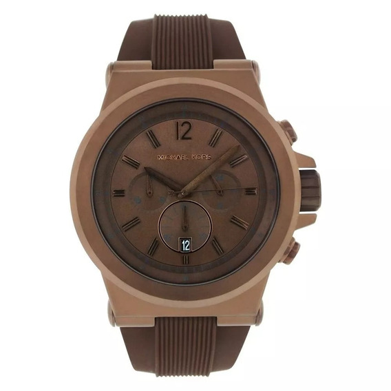 Relógio Michael Kors Mk8216 Marrom Masculino Silicone 48mm