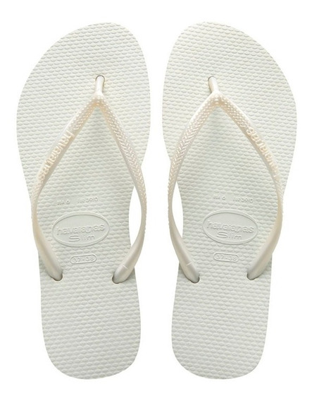 Zonazero Havaianas Ojotas Slim Blanco Mujer