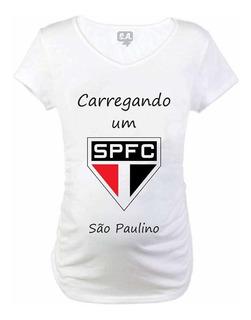 Baby Long Blusa Gestante Carregando São Paulino São Paulo