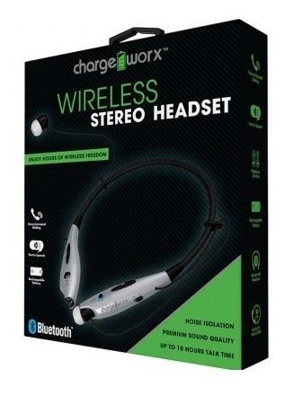 Audifono Con Microfono Bluetooth Charge Worx, Bateria Recarg