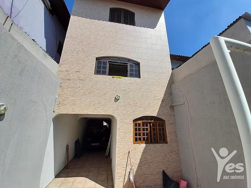 Imagem 1 de 30 de Ref.: 6101 - Sobrado 3 Quartos Sendo 1 Suíte Master Com Banheira, 6 Vagas Garagem, Jd Sto Antonio, Santo André. - 6101