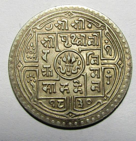 Nepal Moneda 1 Mohar Se 1826-33 Plata Km#651.2 Xf