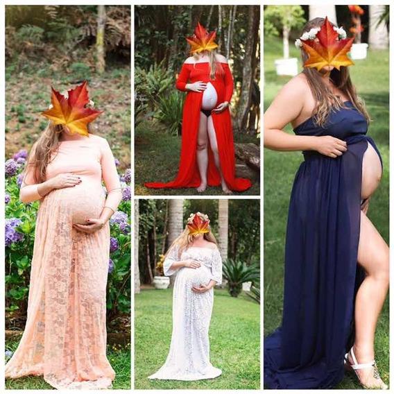 Lote Com 4 Vestidos Para Ensaio Gestante