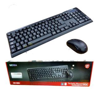 Teclado Y Mouse Inalambrico De 2,4 Ghz Dn-h801 Seisa