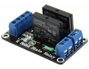 Módulo Relé De Estado Sólido Ssr 2 Canais 250v 2a - Arduino