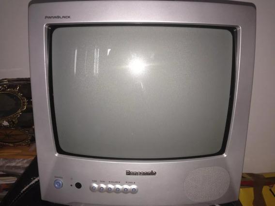 Tv Panasonic 14 Panablack Com Controle Remoto.