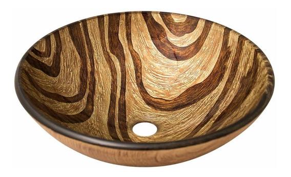 Fregadero Lavabo Para Baño Redondo Vidrio Resistente Decorat