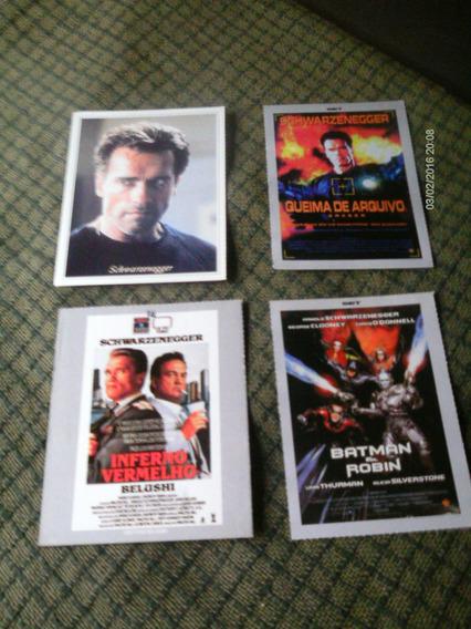 03 Fichas Set + 01 Movie Star Tema: Arnold Schwarzenegger