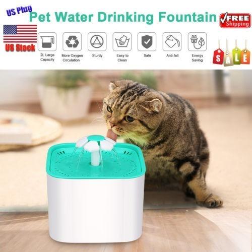 Imagen 1 de 5 de 2l Automático Pet Bebedero Gato Perro Agua Dispensador 3 Cap