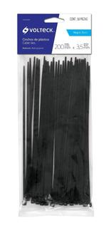Cincho Negro 40 Lb 3.5 Mm X 200 Mm 50 Pz Voltech 44324