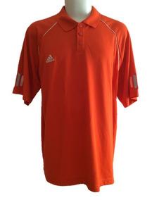 Playera Polo adidas Clima Cool Naranja Doble Extra Grande