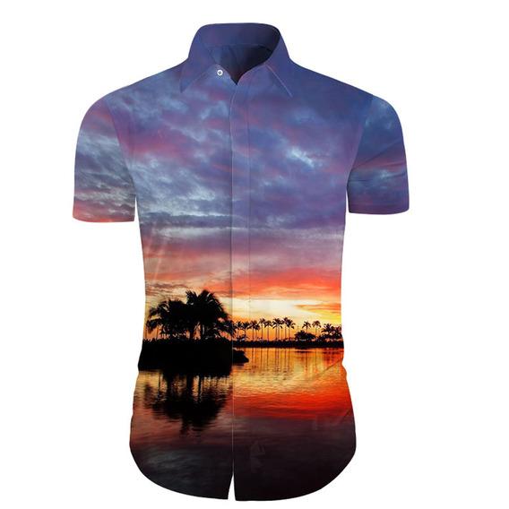 Camiseta De Manga Corta De Verano Para Hombre Cloudstyle