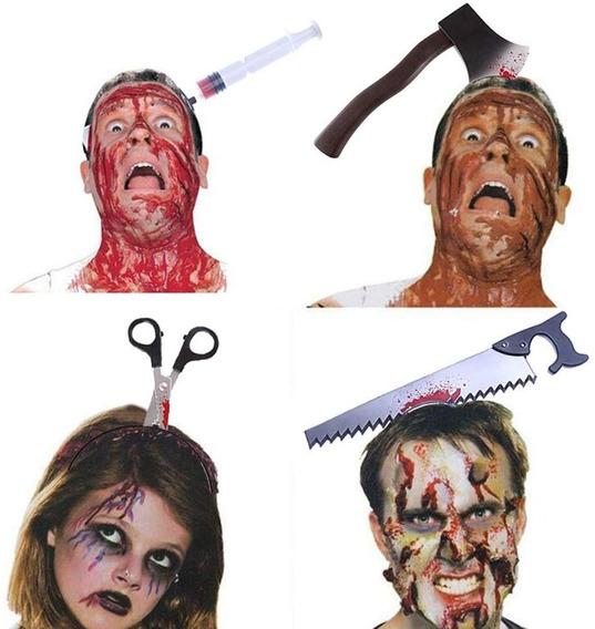 Diademas Disfraz Halloween 4 Piezas Mascaras De Terror