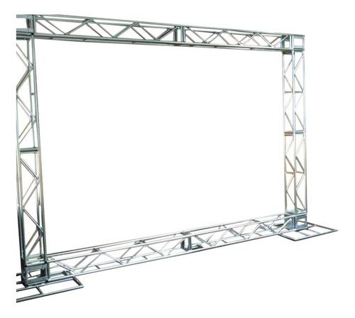 Imagem 1 de 7 de Treliças Kit Trave Box Truss Q20 Dj Aço 2,5x3m Backdrop