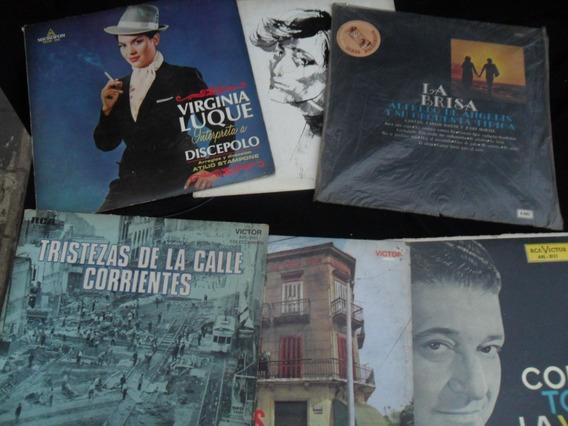 Lote 7 Lp Vinilo Disco Tango Antiguo Troilo Luque Biagi