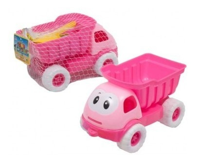 Set Camión Para Niña Con Accesorios 5 Piezas Sand Toy Tk638