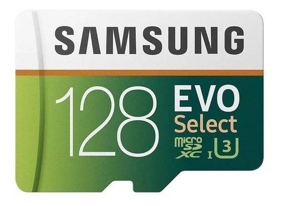 Cartão Microsd Samsung 128gb Evoselect Uhsi 100mb/s Original